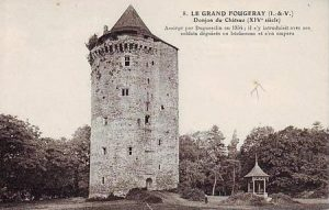 Restes du Chateau de Fougeray que du Guesclin attaqua