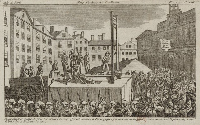 La guillotine L'honorable dette de la Révolution Les Dîners de l'Aristocrate