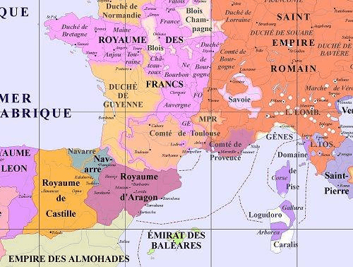 carte de france xiiie siecle